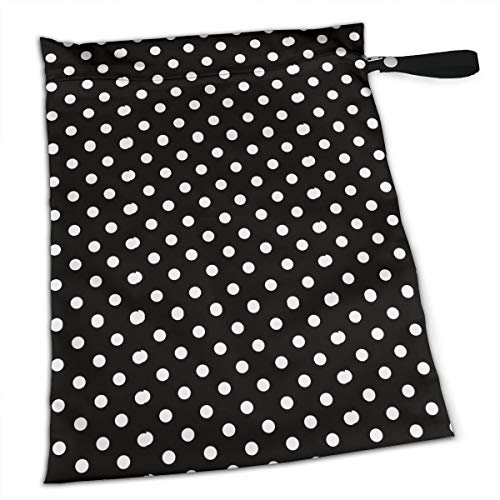 (Liusgit Duchess Black and White Polka Dot Collection Duffle Gym Bag Shoe Compartment and Wet Pocket Waterproof Gear Bikini Tote Dry Beach Swimming Camping Kayak Workout Clothes Weather)