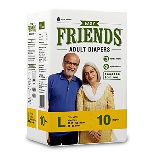 Friends Adult Diaper Basic Large 10 Count