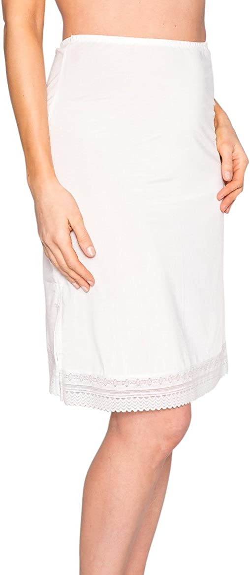 Free to Live 3-Pack Lace Trim Knee Length Half Slips for Women/'s Under Dress