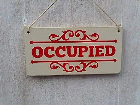 Cartel de Doble Cara para Puerta de Inodoro, con Texto en ...
