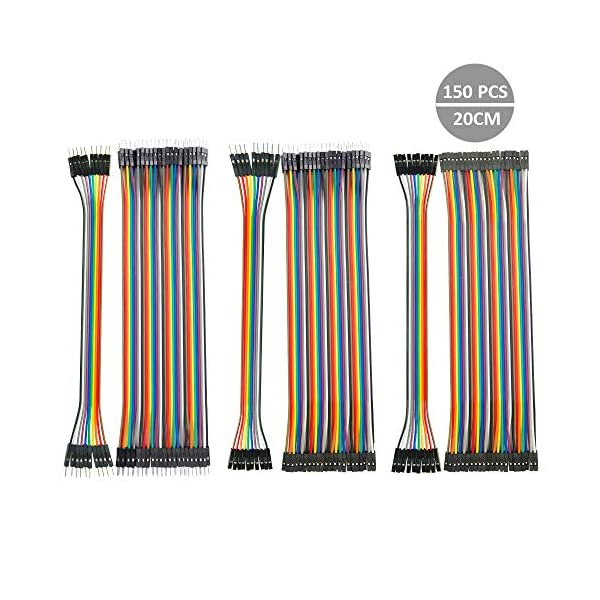 150pcs-Multicolored-Dupont-Wire-12-core-Pure-Copper-Wire-20-Centimeter-Male-To-Femal-Male-To-Male-Female-To-Female-Jumper-Wire-for-Breadboard-Arduino-DIY-Raspherry-Robot