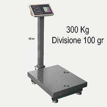 Balanza electrónica profesional con pantalla digital, recargable, máx. 300 kg