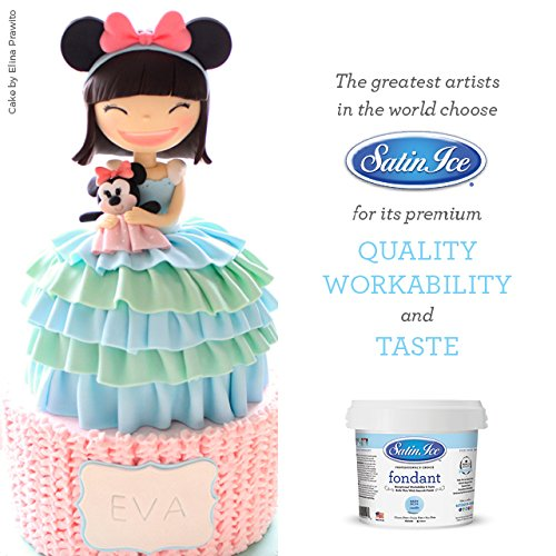 Satin Ice Baby Blue Fondant, Vanilla, 2 Pounds by Satin Ice (Image #6)