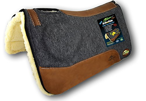 Saddle Right Pad - Southwestern Equine OrthoRide Correction Saddle - Fleece Bottom (31 x 32, Natural Leathers)