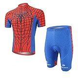 womens beer cycling jersey - Cplus Sportware Men's Short Sleeve Spiderman Red Cycling Gel Pad Jersey Set XXL