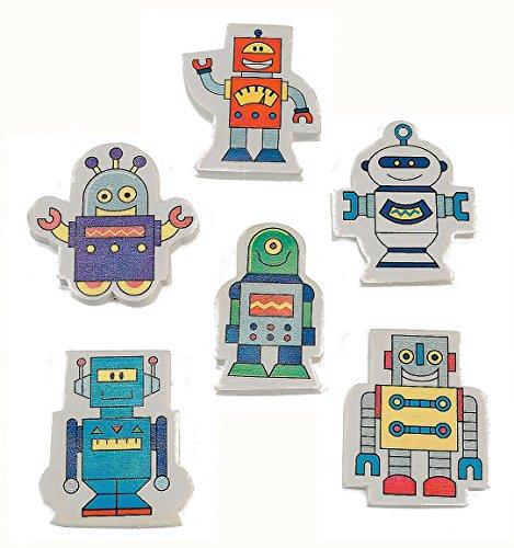 Robot Party Supplies (ROBOT ERASER (2 DOZEN) - BULK)