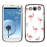 LASTONE PHONE CASE / Slim Protector Hard Shell Cover Case for Samsung Galaxy S3 I9300 / Cool Pelican Pink White Minimalist Pattern Bird