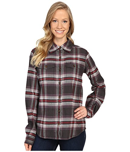 Carhartt Women's Hamilton Flannel Shirt, Minimal Gray Heather, Large ()