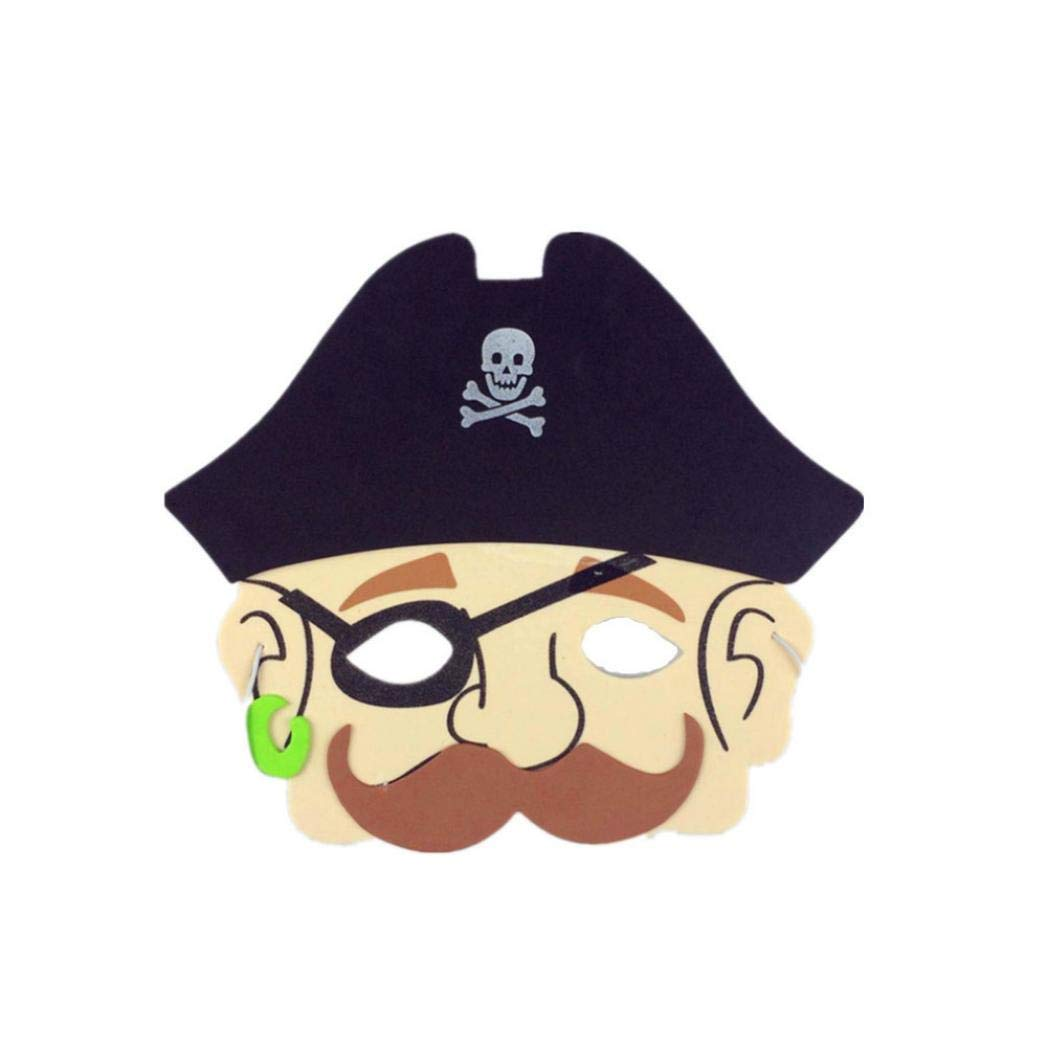 Roysberry Toys Halloween Toys - EVA Foam Cartoon Mask Kids Puzzles Party Mask Favors Dress-up 3D Horror Skeleton Skull Party Toys - Birthday Gift Halloween Toy Jigsaw Puzzles for Kids Ages 4-8 (G)