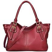 Jack&Chris Ladies Handbags and Purses Tote Bag for Women Leather Shoulder Bag