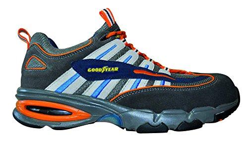Chaussures de sécurité basses S1P «2300» ,daim et textile, embout en acier , semelle anti-perforation composite, semelle intermédiare en EVA, semelle en PU HRO, trés légère