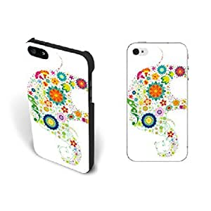 Floral Design Personalized Elephant Animal Case For Iphone 5C Cover Case Colorful Flower Pretty Butterfly Custom Printing Plastic Case For Iphone 5C Cover Case Screen Protector