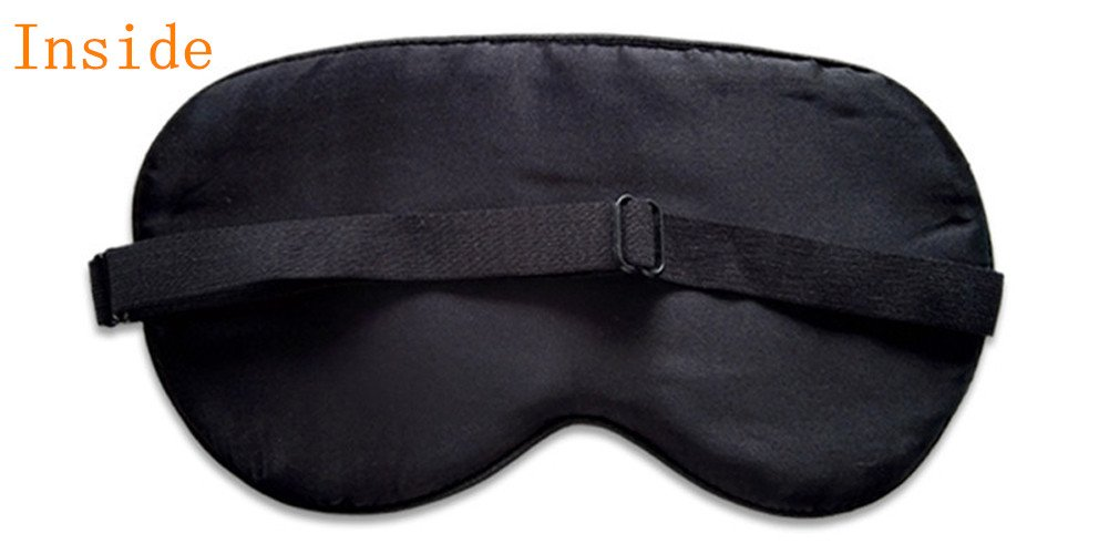 100% Silk Sleep Mask Super-Smooth Comfortable Eye Mask & Blindfold with Adjustable Strap (Champagne) by Bulase (Image #2)