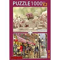 Love Evening Cafe 2x1000 Parça Puzzle