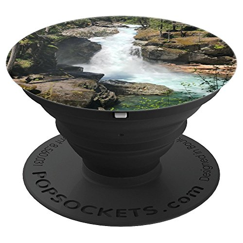 Seattle WA Mount Rainier Falls Nature Photo - PopSockets Grip and Stand for Phones and Tablets