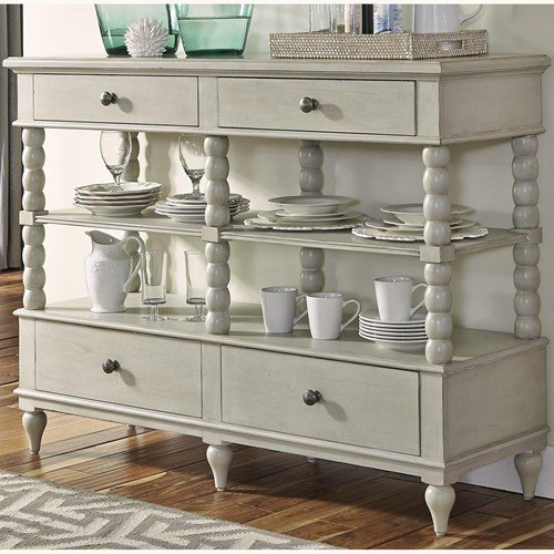 Liberty Furniture Harbor View III Buffet in Dove Gray