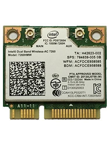 Intel Dual Band Wireless-AC 7260 867 Mbps+ Bluetooth 4.0 7260HMW Wireless WLAN Card by Intel