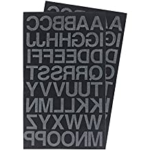 Iron on 1-Inch Letters Transfer, Custom DIY T-shirts - 2 Sheet (Black or White Optional)