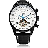 Generic JARAGAR Mechanical Automatic White Black Men Wrist Watch