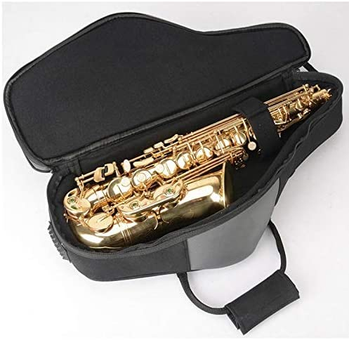 YANQ Saxophone Case Thick and Lightweight Saxophone with Portable Shoulder Soft Bag Drop E