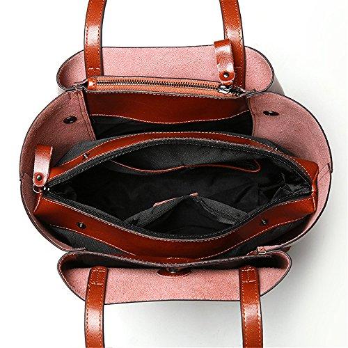 Schouder Handtassen Dames Vintage Tas blauw echt 100 Messenger Vrouwelijke tassen leer rood Bag xwOIftA