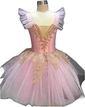 Panda Legends Disfraz de Ballet de Cisne Rosa para niñas Falda de ...