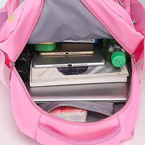 EGFAS Girls Water Resistant Elementary Middle School Backpack Book Bag Pink