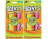 Scentos Colored Pencils, 2 Pack