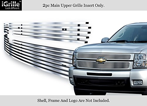 APS 304 Stainless Steel Billet Grille Fits 2007-2013 Chevy Silverado (Silverado Stainless Steel Billet Grille)