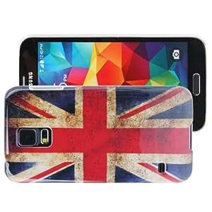 Retro UK Flag Pattern Case Cover Plastic Carcasa Para Samsung Galaxy S5 G900