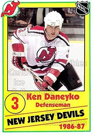 sale retailer 757bd 4dfaf Amazon.com: (CI) Ken Daneyko Hockey Card 1986-87 New Jersey ...