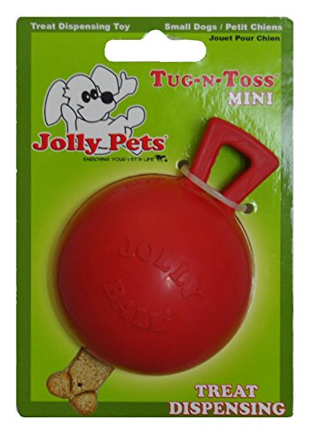 Jolly Pets 3 Inch Tug n Toss Ball