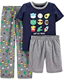 Emoji Clothes for Kids Carter's Boys' 3 Pc Poly 363g035 (6, Navy/Heather/Emoji)