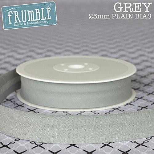 25mm Bias Binding Grey 5m Roll High Quality Open Fold Tape Trim Frumble Fabric