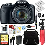 Canon PowerShot SX530 HS 16.0 MP 50x Optical Zoom Digital Camera (Black) + Two-Pack NB-6L Spare Batteries + Accessory Bundle Review