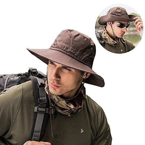 cc4453f078d36d Peicees Fishing Hat Summer Sun Bonnie Hat UPF 50+ UV Protection Wide Brim  Cap Waterproof