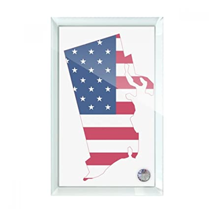 Amazon.com: beatChong Rhode Island USA Map Stars Stripes Flag ...