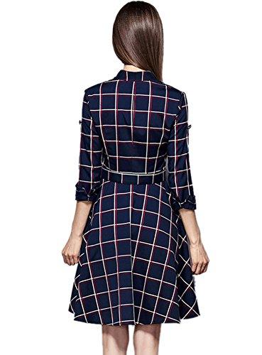 Gr 40 Kleid Damen blau Insun xqX4TZwn