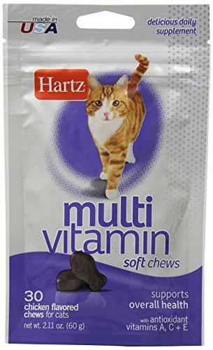 Hartz Multivitamin Daily Supplement Chicken Flavored Soft Chews for Cats