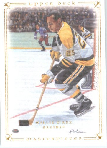 2008 09 Upper Deck Legends Masterpieces Hockey Card # 73 Willie O'Ree Bruins (Deck Legends 09 Upper)