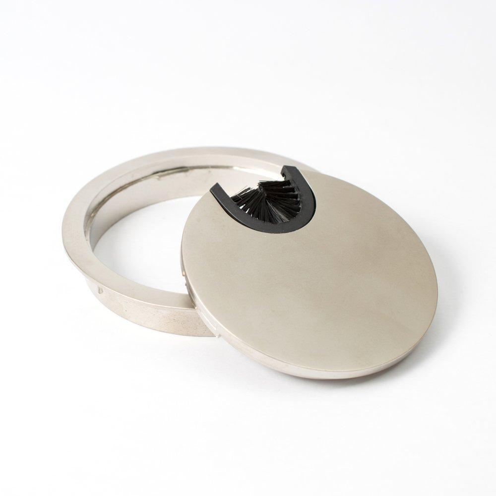 Di/ámetro: 80 mm Pasacables redondos juego de 4 Dise/ño: acero Material: metal Sossai/® KDM1-ST