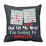Zazzle Bingo Players Throw Pillow 16'' x 16''
