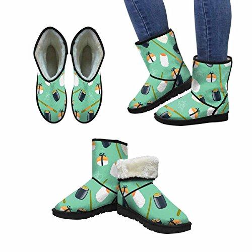Snow Boots Da Donna Winterprint Sushi Unico Design Invernale Comfort Stivali Multi 1