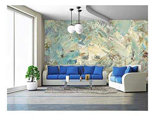 - wall26 - analog painted background, created with brushes and painting knife - Removable Wall Mural | Self-adhesive Large Wallpaper - 66x96 inches