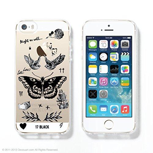 Harry's Tattoos Transparent Clear TPU Plastic Case for iPhones 6Plus/6sPlus