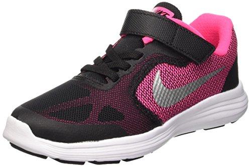 Nike Revolution 3 (Psv), Zapatillas de Deporte Para Niñas, Negro...