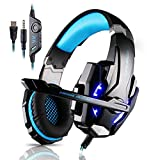 MAZIMARK--Gaming MIC LED Light Headset CellPhone Headphone For 3.5mm Jack PS4 Xbox One