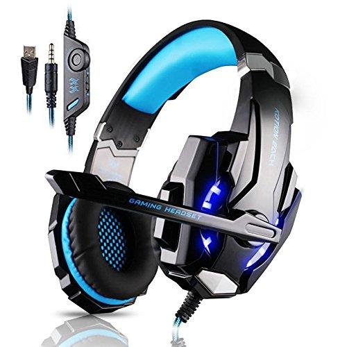 MAZIMARK--Gaming MIC LED Light Headset CellPhone Headphone For 3.5mm Jack PS4 Xbox One