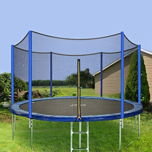 JUPA Kids Trampoline 15FT, TÜV Certificated Outdoor Trampoline with Enclosure Net Jumping Mat Safety Pad, Heavy Duty Round Trampoline for Backyard by JUPA (Image #8)