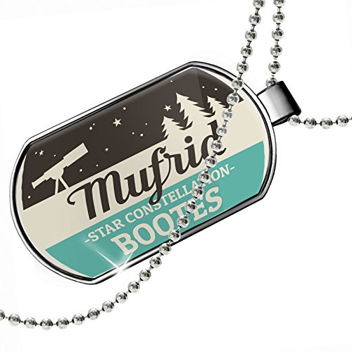 Dogtag Star Constellation Name Bootes - Mufrid Dog tags necklace - Neonblond by NEONBLOND